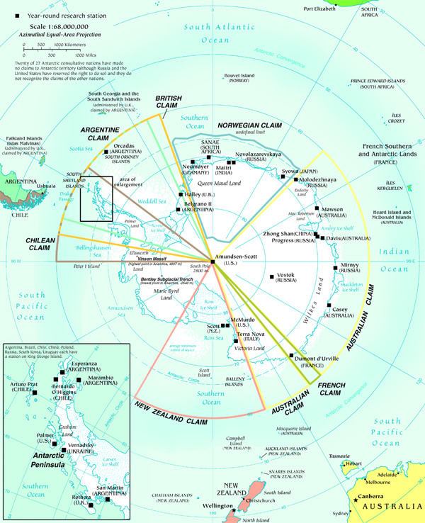 Map of Antarctica map Antarctica Atlas
