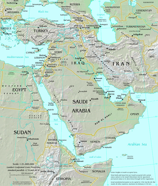 map of middle east map