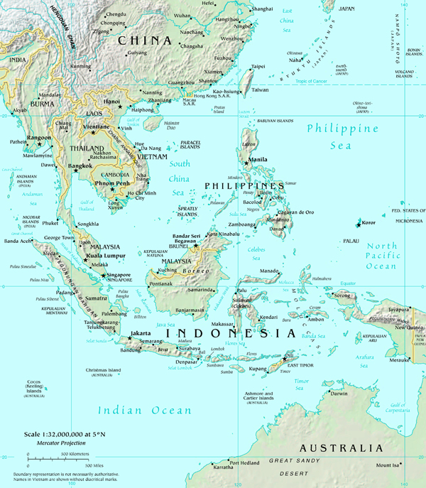 Map of south east asia map south east asia atlas map of south east asia gumiabroncs Gallery