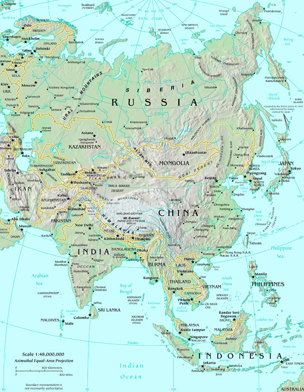 Boundary Map Of Asia.Map Of Asia Map Asia Atlas